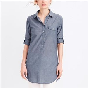 J. Crew Chambray Pocket Tunic Size M